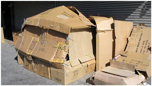 cardboard hosue
