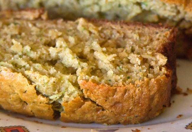 Warm Slice of Zucchini Bread
